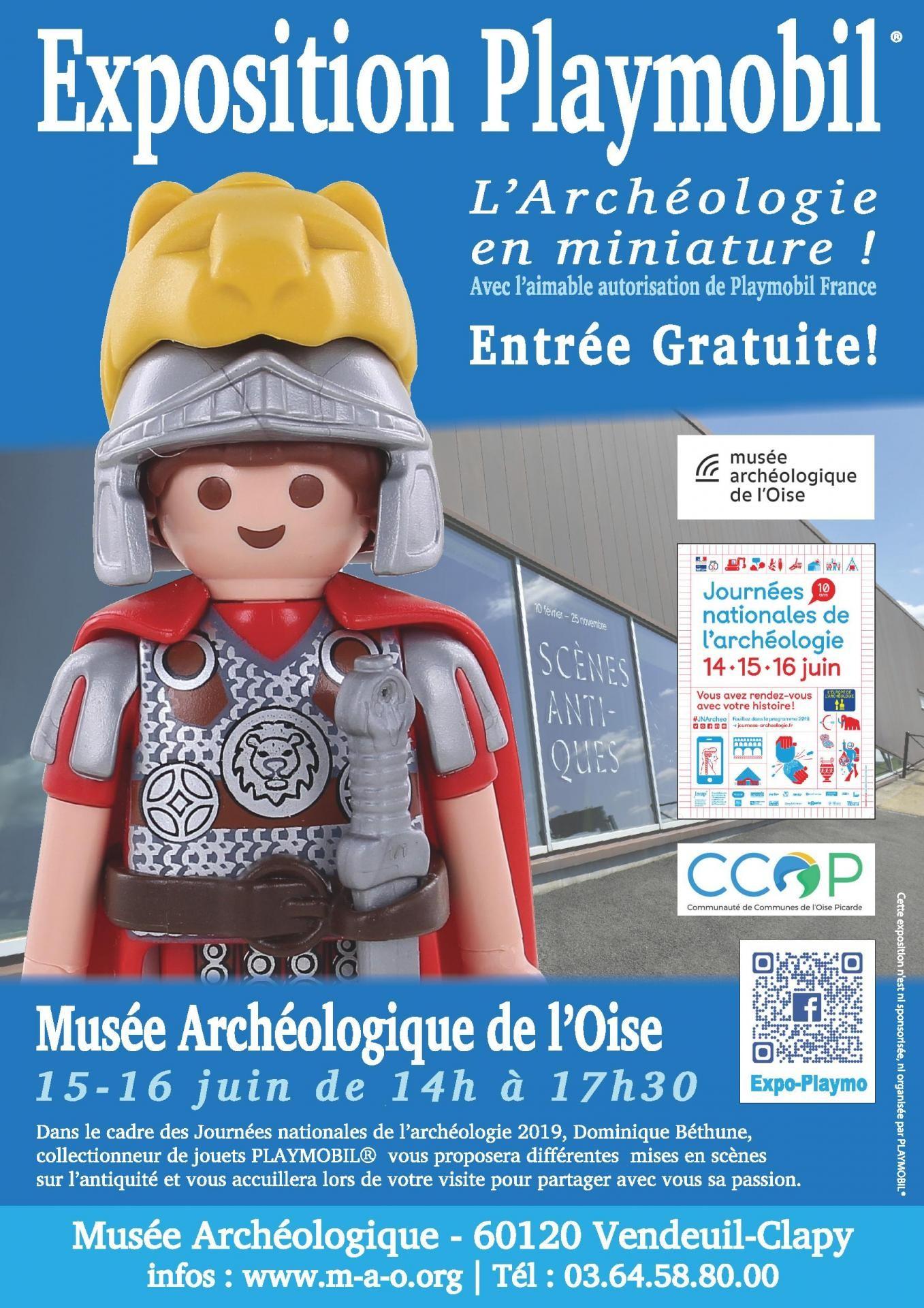 Affiche expo playmobil archeologique de l oise 2019