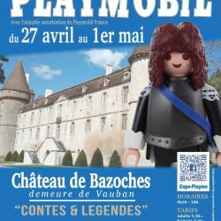 Affiche exposition playmobil chateau de bazoches 2019 dominique bethune