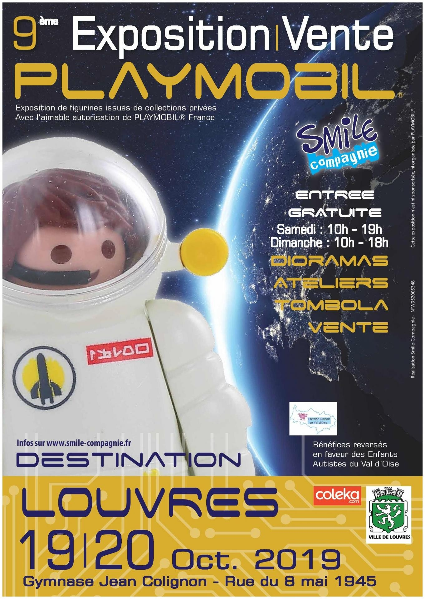 Affiche exposition playmobil louvres 2019