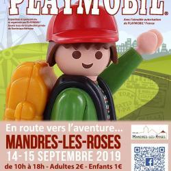 Affiche exposition playmobil mandres 2019 dominique bethune