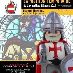 Exposition playmobil archeoscope de bouillon 2019 dominique bethune