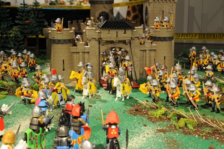 La Bataille d'Azincourt en 1415 réalisée en Playmobil