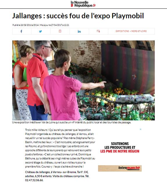 Exposition Playmobil Château de Jallanges