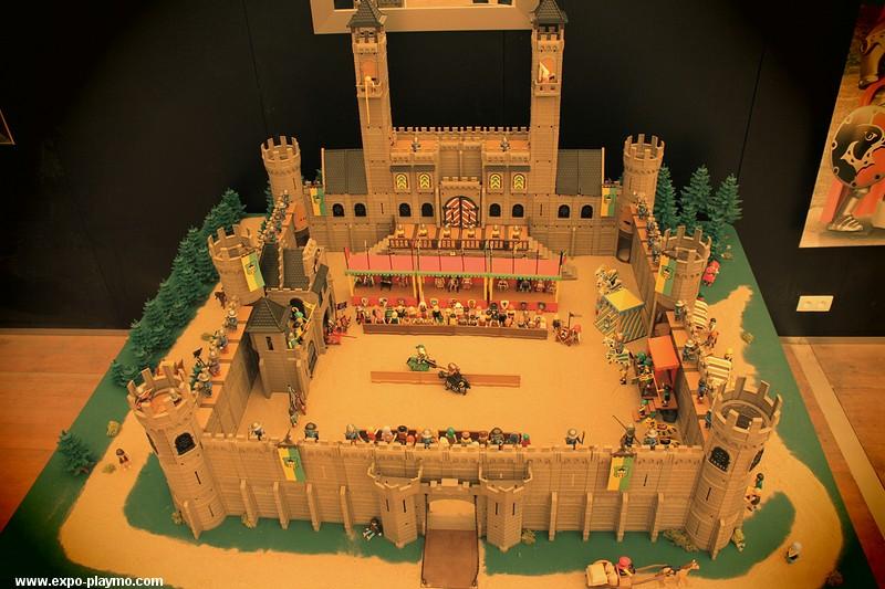 Joutes au moyen-âge réalisées en Playmobil
