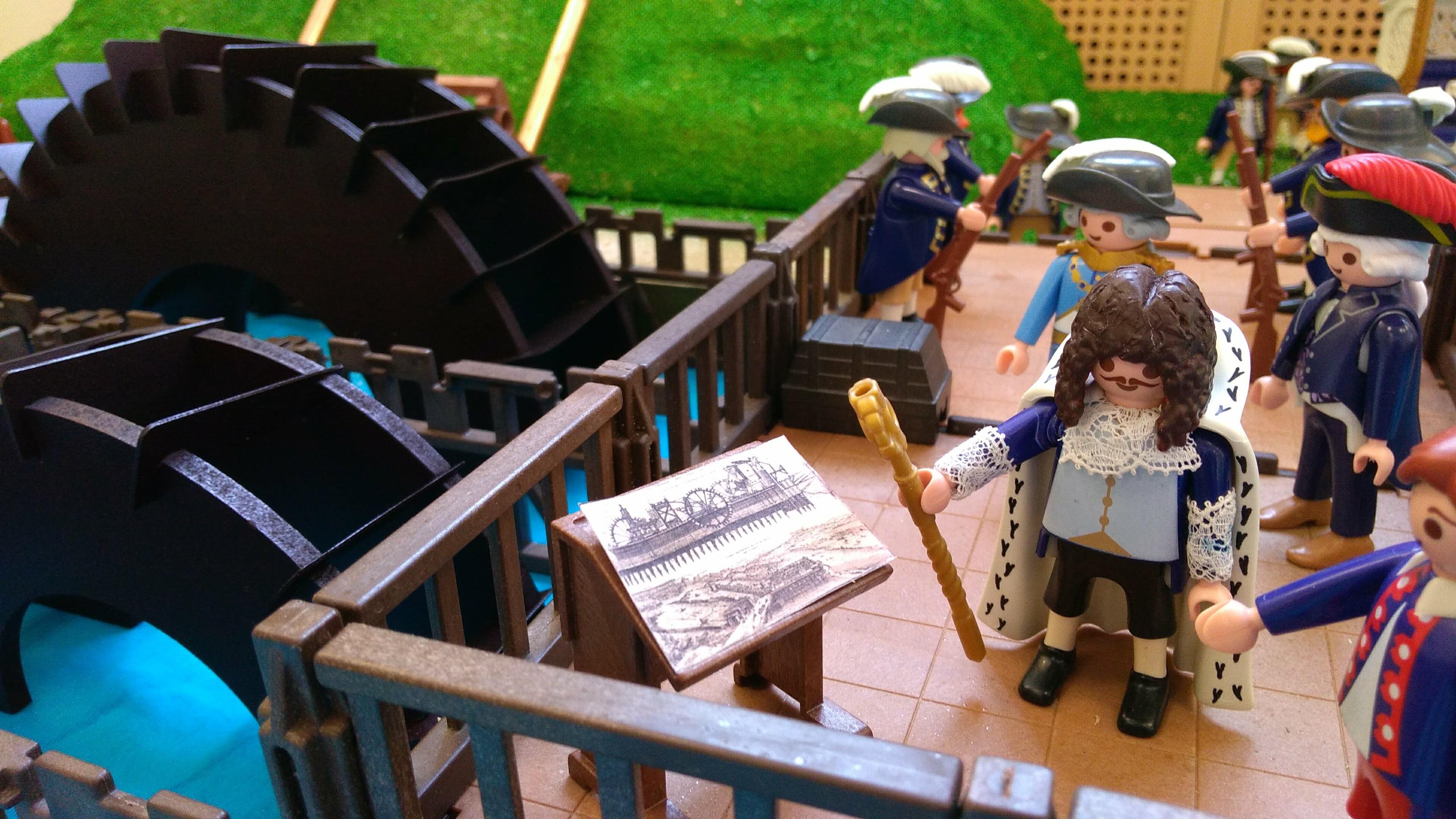 La Machine de Marly de Louis XIV en Playmobil