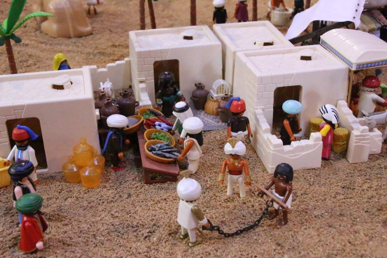 Diorama playmobil campagne d 39 egypte de napol on - Egypte playmobil ...