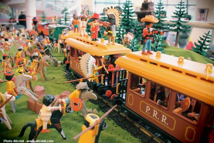 L'attaque du train par les indiens