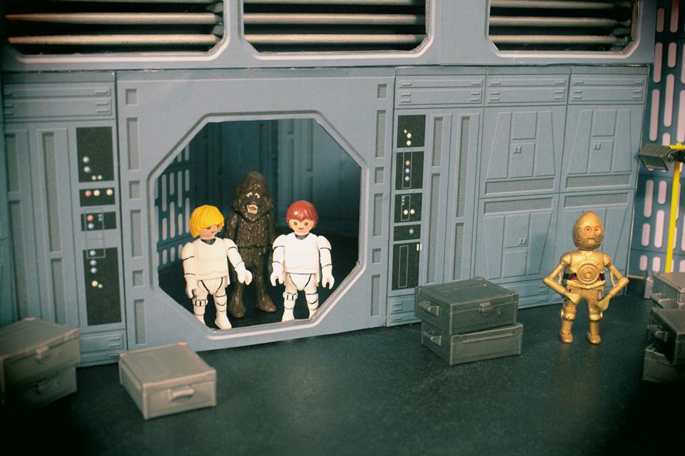 Décor diorama starwars en playmobil