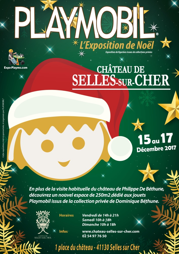 Affiche expo playmobil chateau de selle dominique bethune
