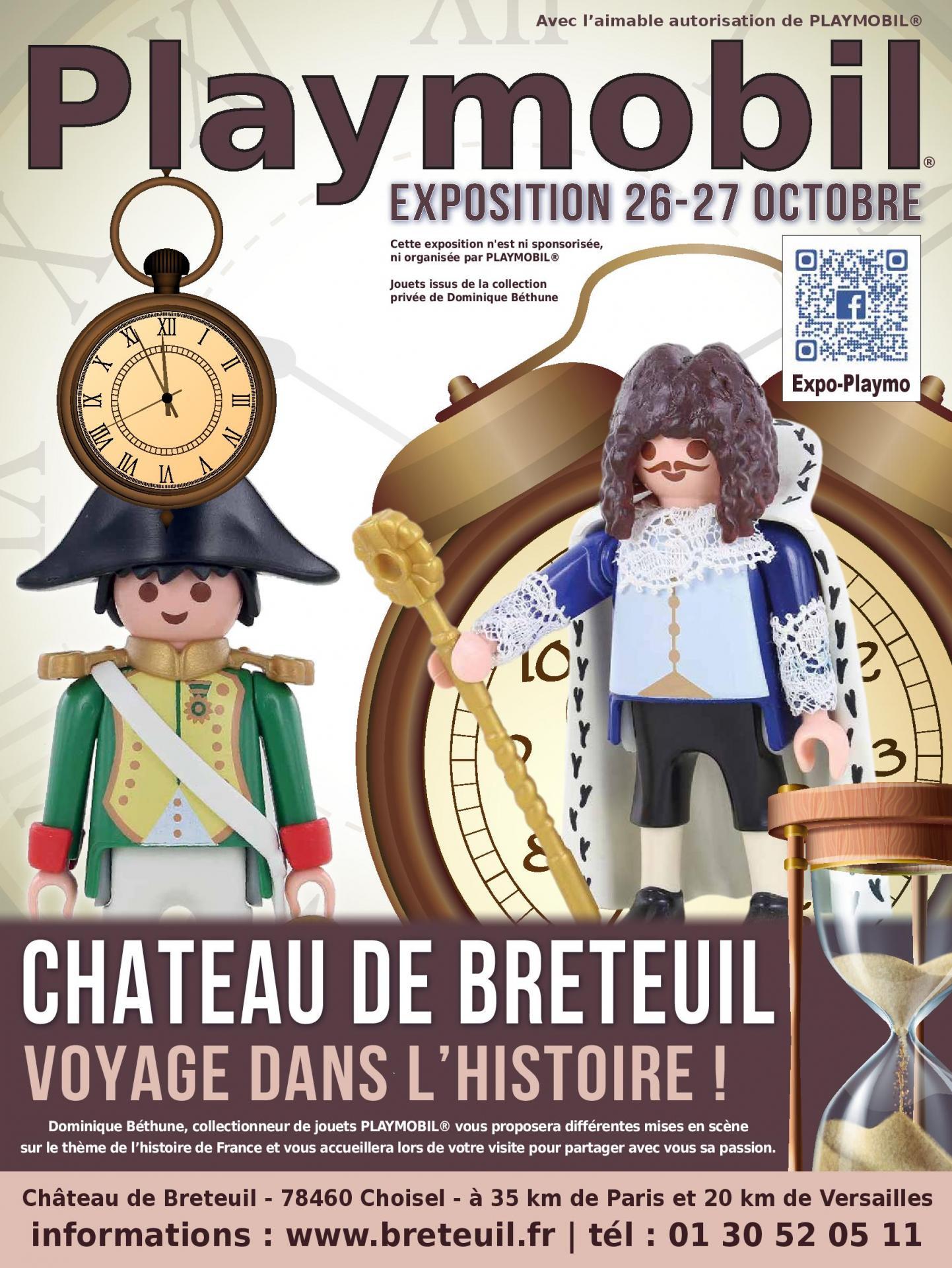 Affiche exposition playmobil chateau de breteuil 2019 dominique bethune