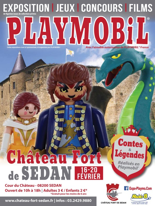 Exposition playmobil chateau de Sedan par dominique bethune