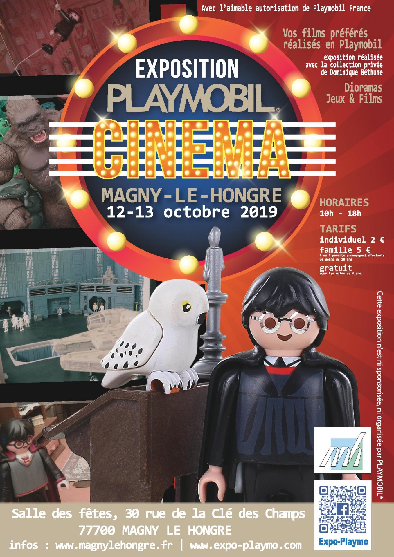 Affiche exposition playmobil magny le hongre 2019 dominique bethune collectionneur