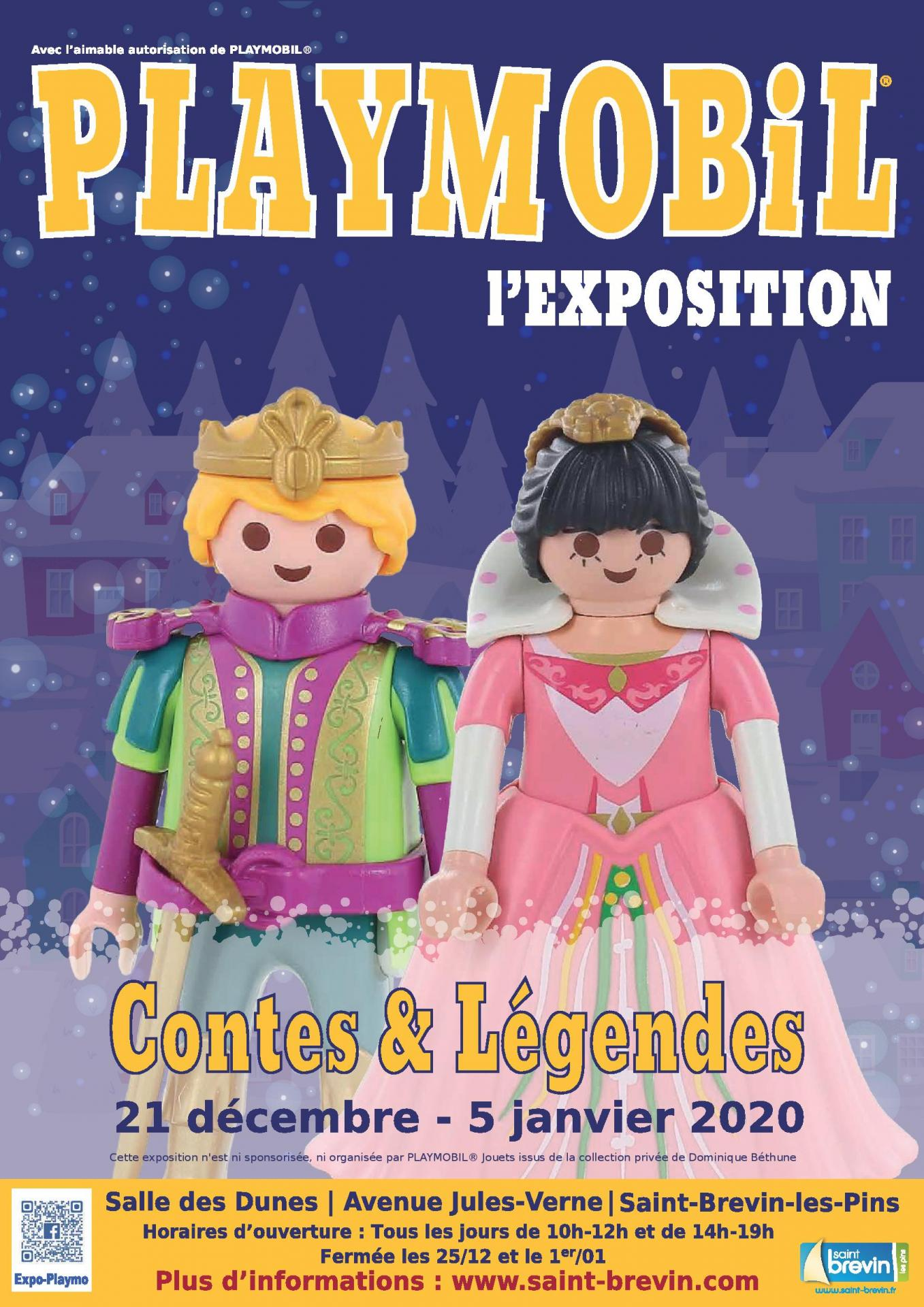 Affiche exposition playmobil saint brevin 2019 dominique bethune