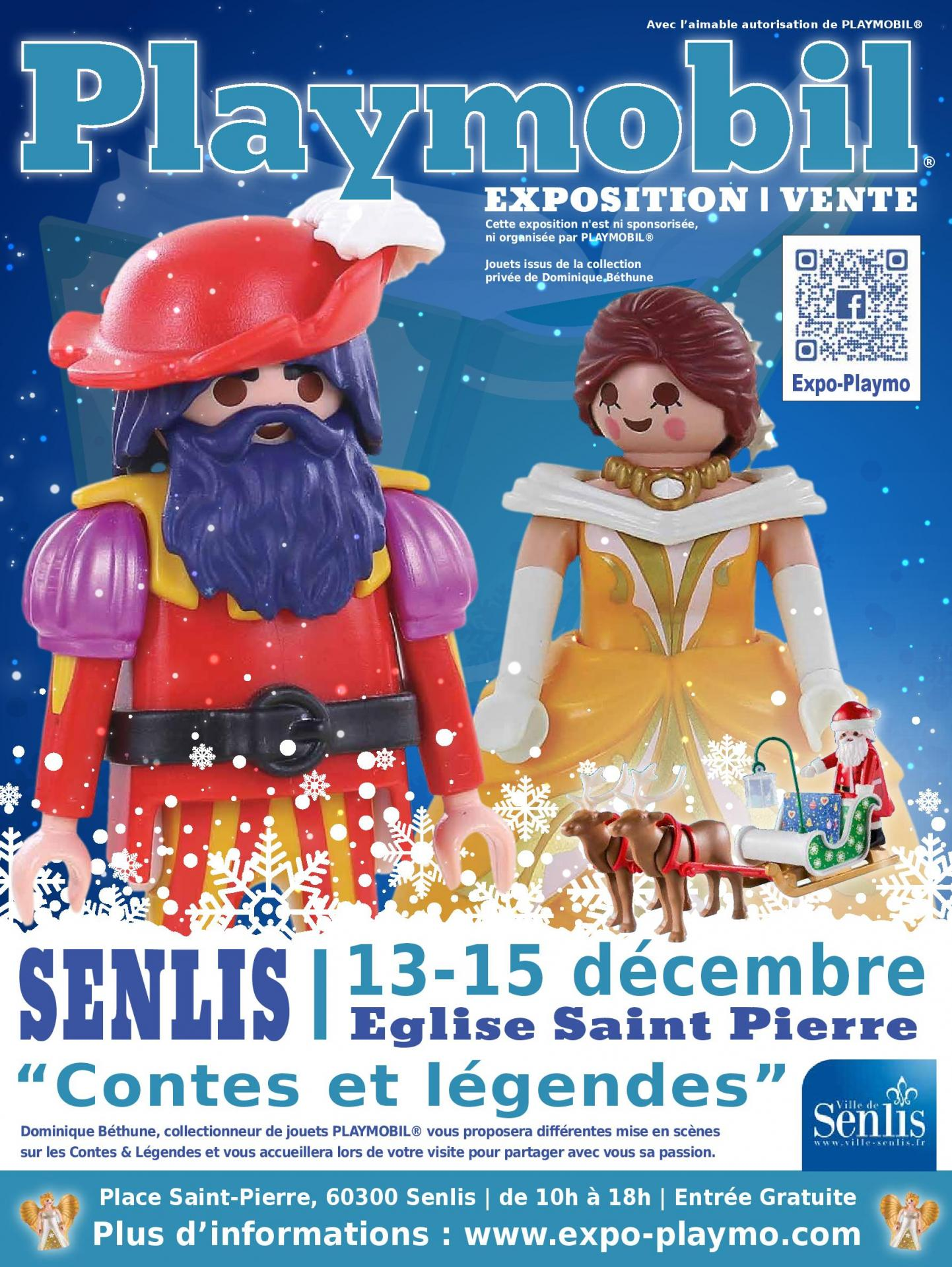 Affiche exposition playmobil senlis 2019 dominique bethune