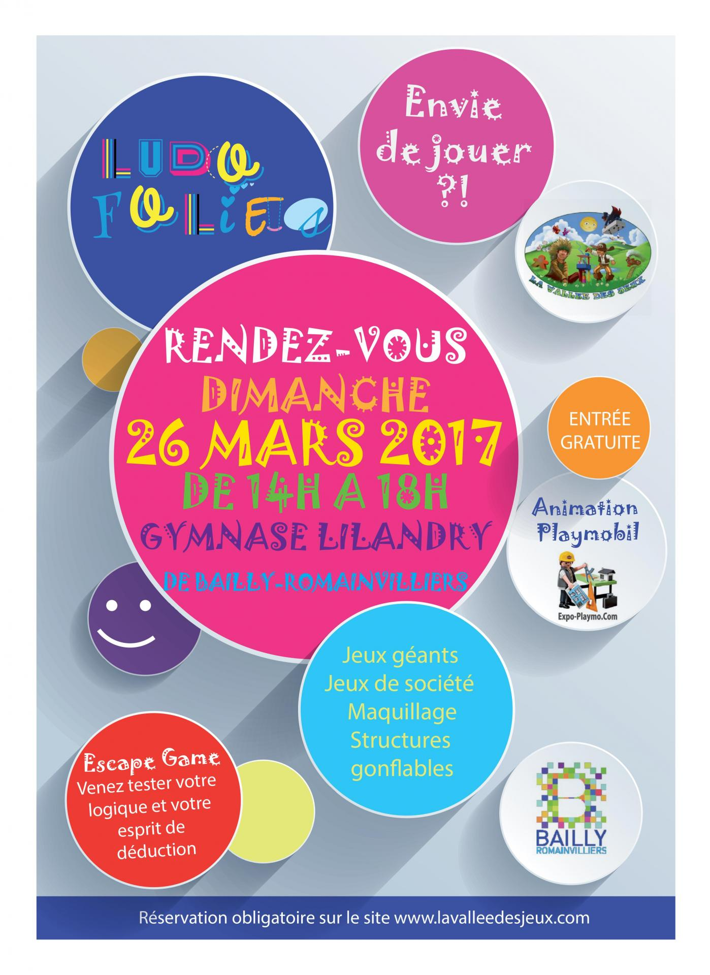 Affiche playmobil ludofolies mars 2017