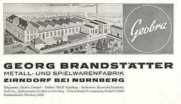 1930 usine Metallwarenfabrik Georg Brandstatter, Brandstatter, geobra, ancien playmobil