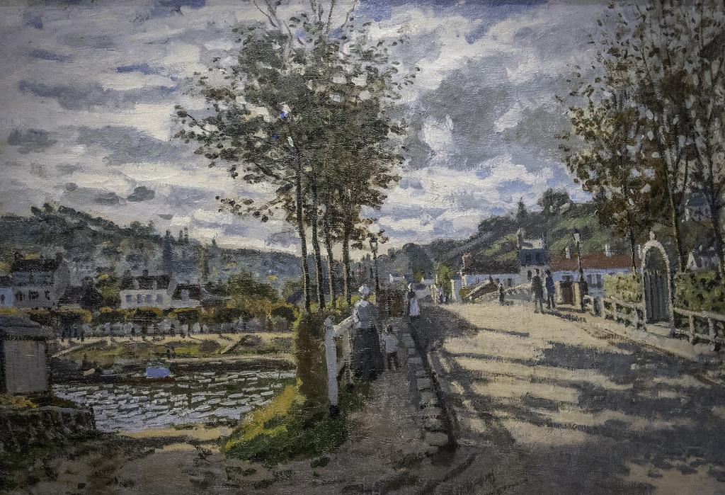 Claude monet peintures vendre le pont bougival toile art peint la main jpg 640x640