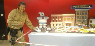 Diorama ghostbusters en playmobil a rethel avec dominique bethune