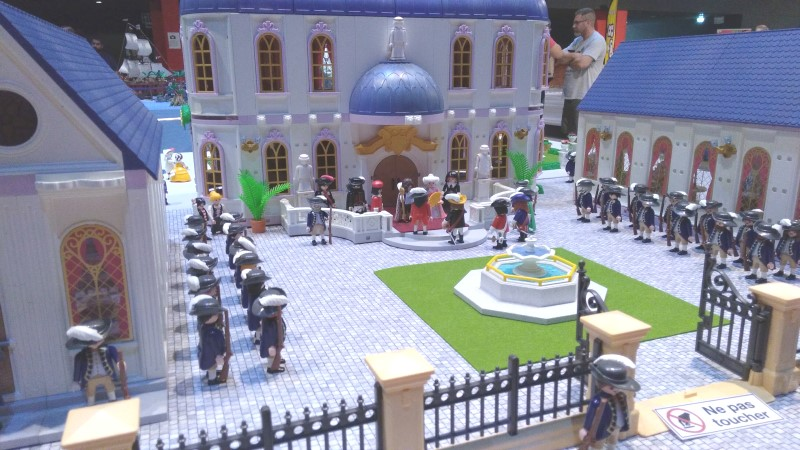 Exemple route pavee diorama playmobil 3 mousquetaires