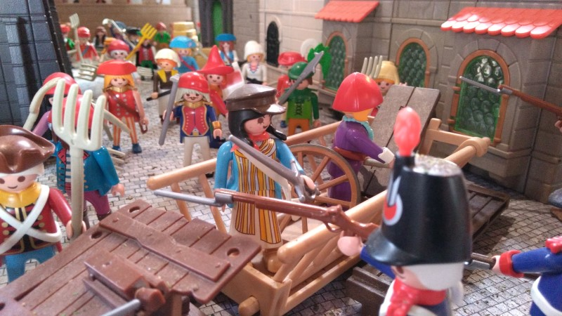 Exemple route pavee diorama playmobil revolution 1789