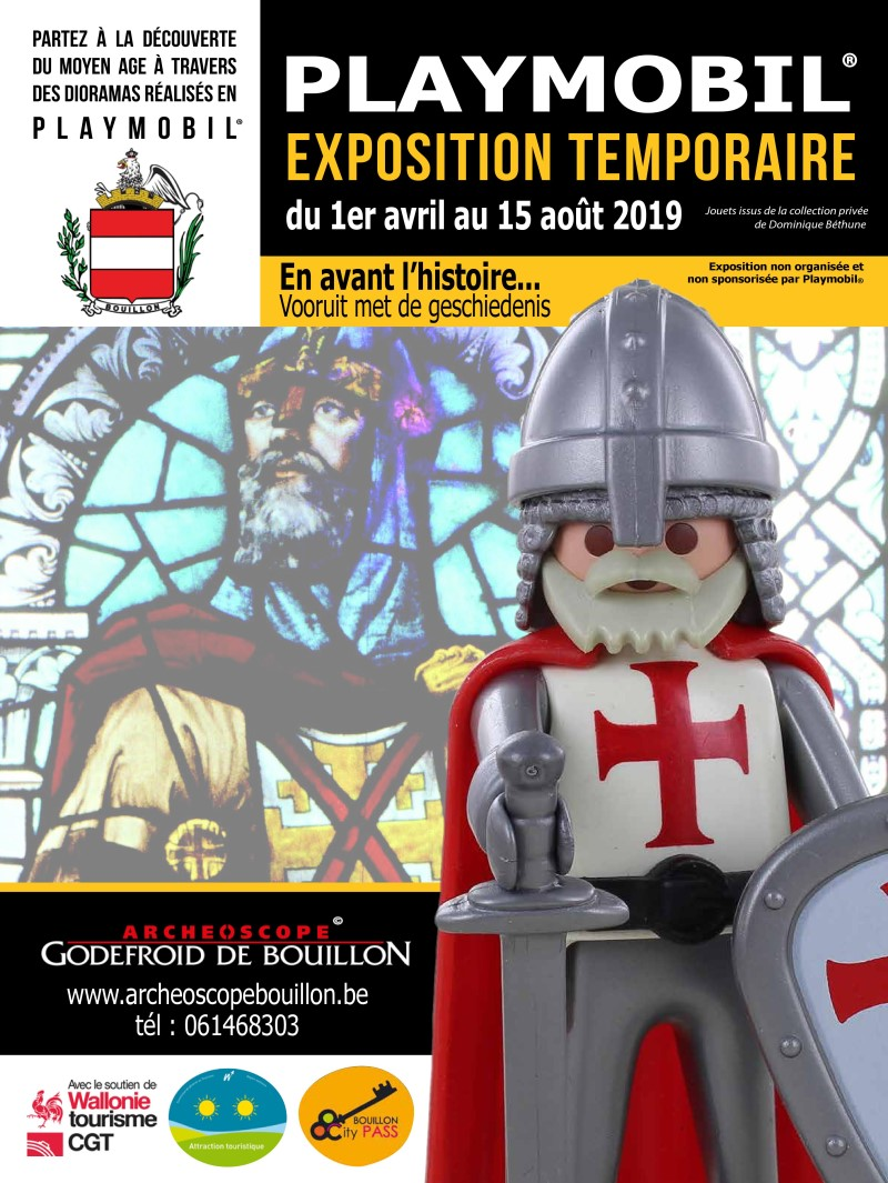 Exposition playmobil archeoscope de bouillon 2019 dominique bethune