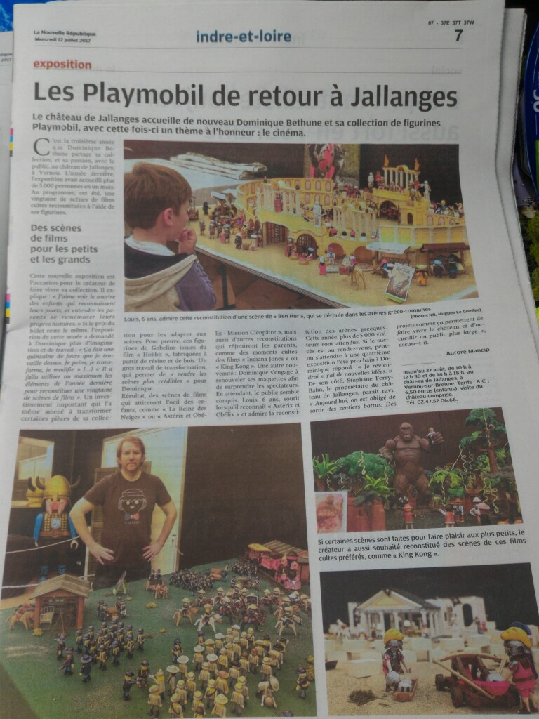 Exposition playmobil chateau de jallanges cinema