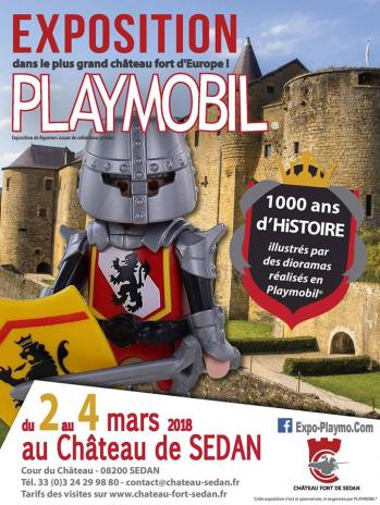 Exposition playmobil chateau de sedan colelction dominique bethune