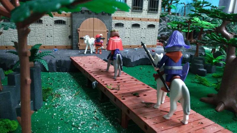 Exposition playmobil saint romain le puy 2018 dominique bethune barbe bleue