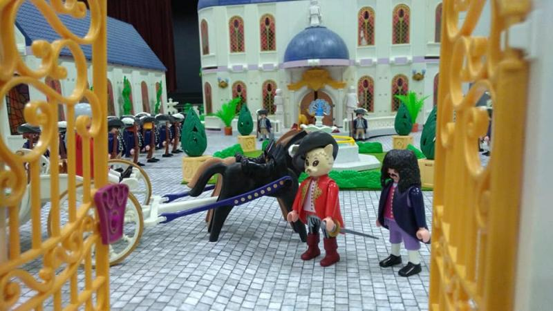 Exposition playmobil saint romain le puy 2018 dominique bethune le chat botte