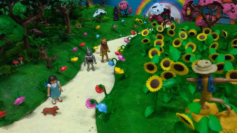 Exposition playmobil saint romain le puy 2018 dominique bethune magicien d oz