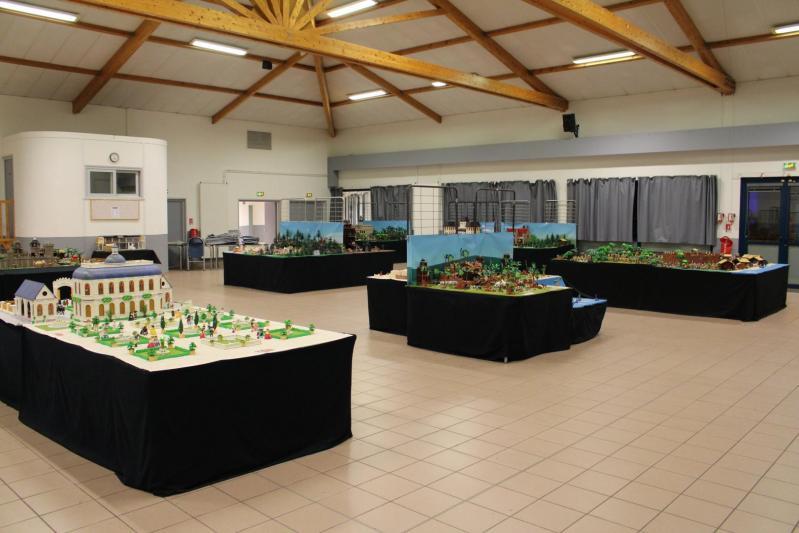 Exposition playmobil saint romain le puy 2018 dominique bethune salle