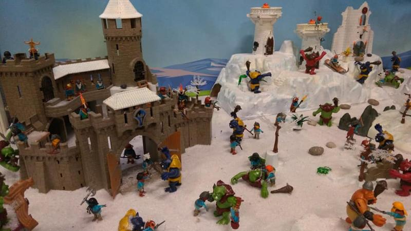 Exposition playmobil saint romain le puy 2018 dominique bethune trolls