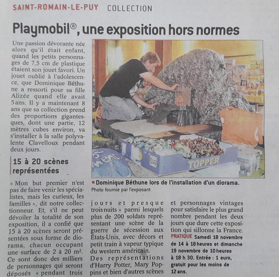 Exposition playmobil saint romain le puy dominique bethune le progres