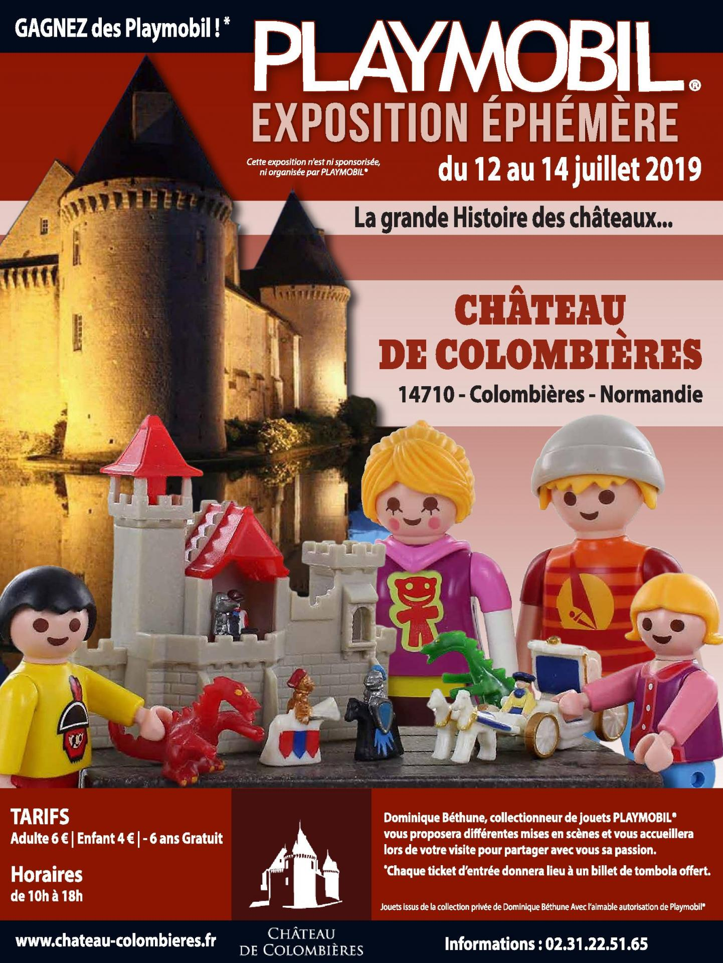 Exposition plaympobil chateau de colombieres 2019 dominique bethune