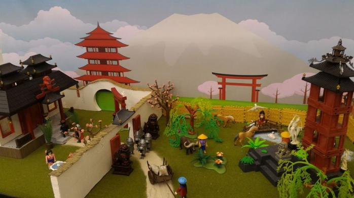 Faire une exposition playmobil decor asie mulan dominique bethune