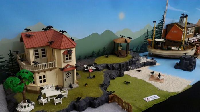 Faire une exposition playmobil decor oiseaux dominique bethune
