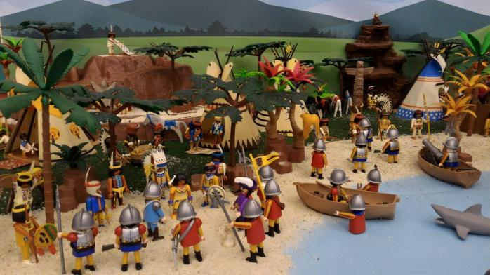 Faire une exposition playmobil decor pocahontas dominique bethune