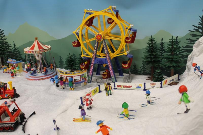 Fond diorama pour playmobil dominique bethune le ski