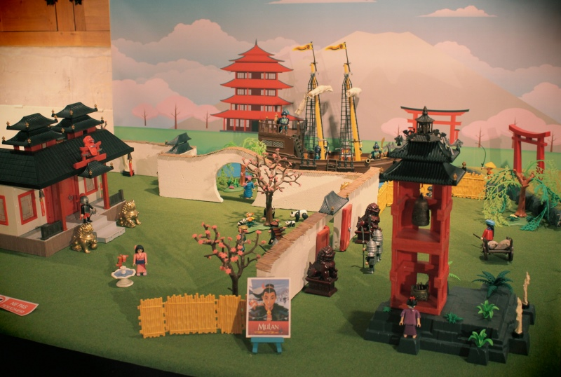 Fond diorama pour playmobil dominique bethune mulan asie