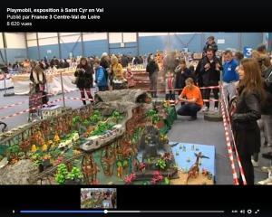 France3 diorama jurassic park, dominique bethune, jurassik park playmobil, playmobil saint cyr en val, playmobil loiret