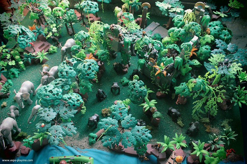 Img 2157 diorama jungle playmobil dominique bethune