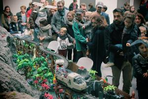 Jurassic park en playmobil diorama realise par dominique bethune alias alizobil