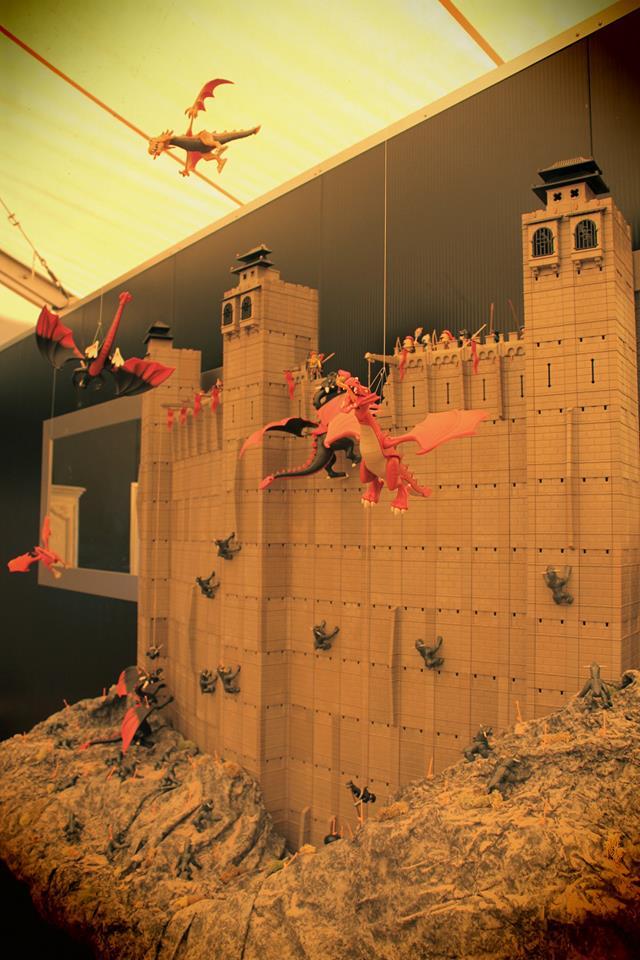 La grande muraille en playmobil exposition dominique bethune