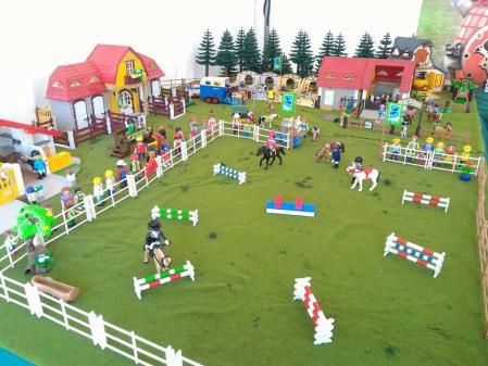 Maison laffitte diorama playmobil hippodrome centre equestre