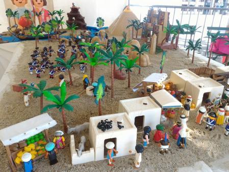 Maison laffitte diorama playmobil hippodrome napoleon en egypte