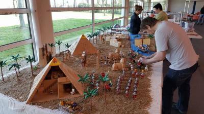 Mise en place d un diorama egypte en playmobil
