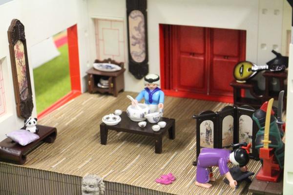 La maison de Mulan realisee en Playmobil par alizee et dominique bethune collectionneur de playmobil