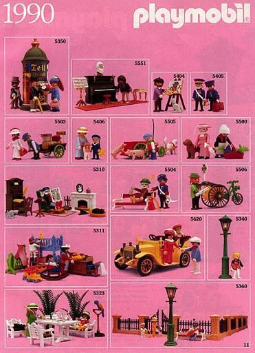 Playmobil catalogue 1990 belle epoque 1900