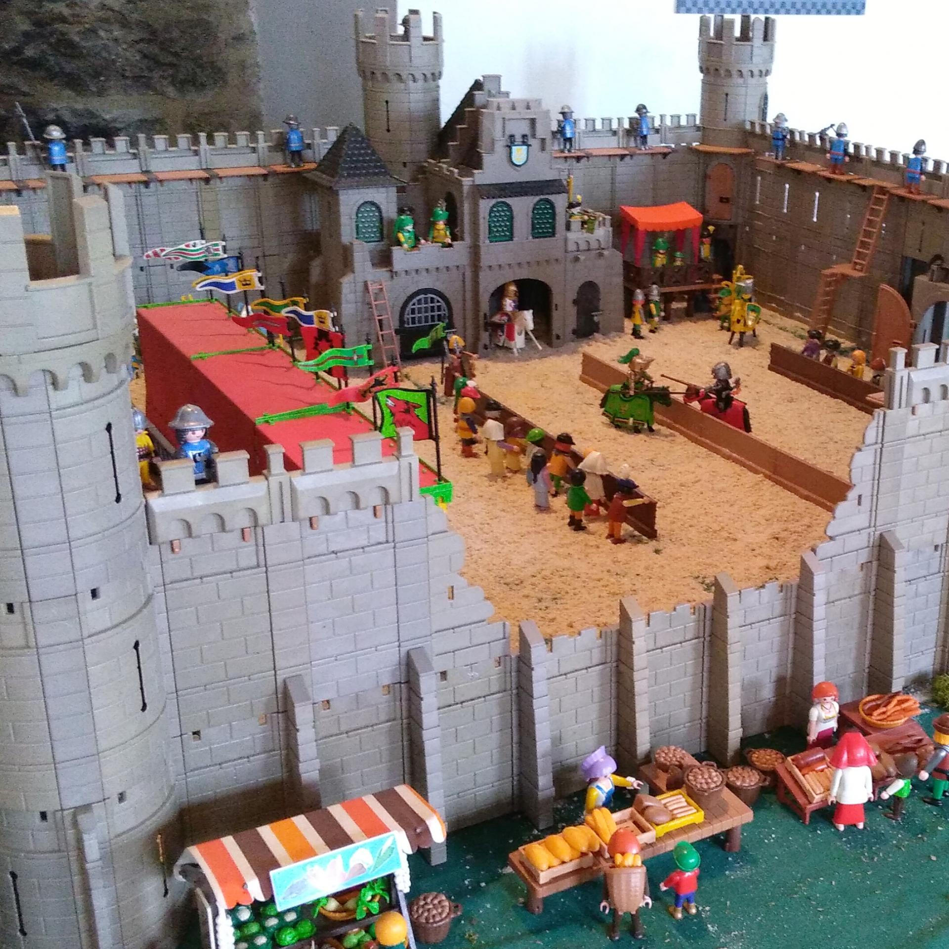 Playmobil chateau de sedan tournoi du moyen age dominique bethune