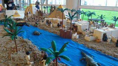 Diorama Playmobil Egypte réalisé par Dominique Béthune aux ludofolies 2017 bailly romainvilliers 1